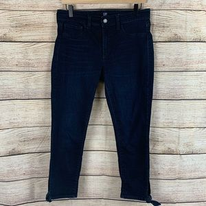 Gap Dark Wash High Rise Tie Ankle Jegging Size 8P